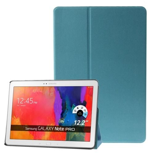 Frosted Texture Flip Leather Case for Samsung Galaxy Note & Tab Pro 12.2 / P900 / T900 with Holder (Blue)