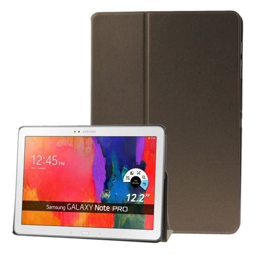 Frosted Texture Flip Leather Case for Samsung Galaxy Note & Tab Pro 12.2 / P900 / T900 with Holder (Brown)