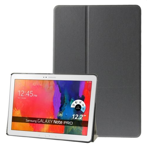 Frosted Texture Flip Leather Case for Samsung Galaxy Note & Tab Pro 12.2 / P900 / T900 with Holder (Grey)