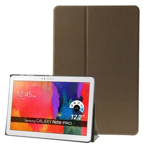 Frosted Texture Flip Leather Case for Samsung Galaxy Note & Tab Pro 12.2 / P900 / T900 with Holder (Coffee)