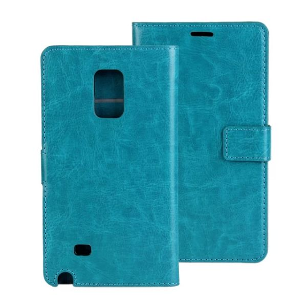 Crazy Horse Texture Flip Leather Case for Samsung Galaxy Note Edge (Light Blue)