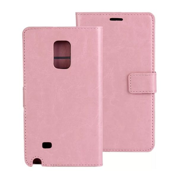 Crazy Horse Texture Flip Leather Case for Samsung Galaxy Note Edge (Pink)