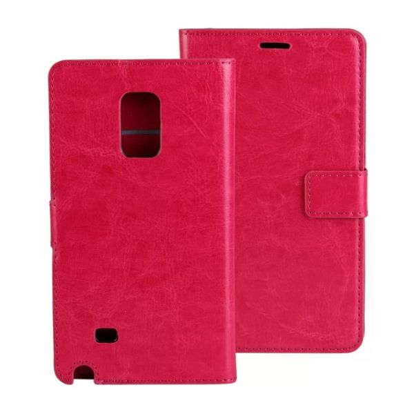 Crazy Horse Texture Flip Leather Case for Samsung Galaxy Note Edge (Rose)