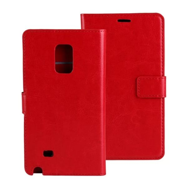 Crazy Horse Texture Flip Leather Case for Samsung Galaxy Note Edge (Red)