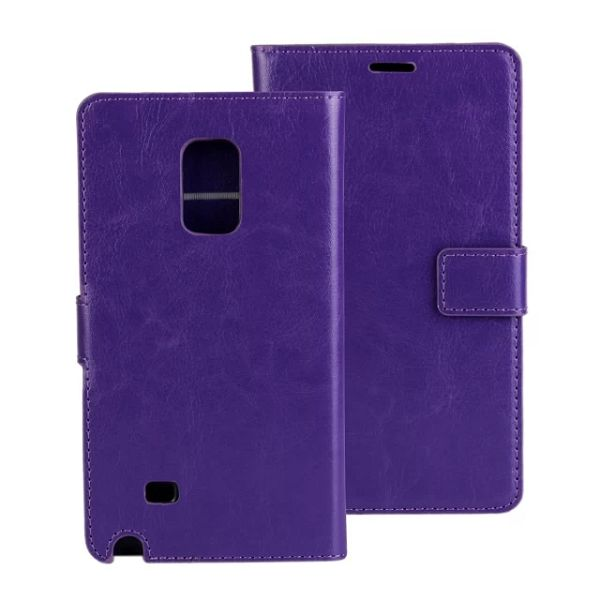 Crazy Horse Texture Flip Leather Case for Samsung Galaxy Note Edge (Purple)