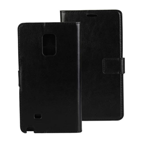 Crazy Horse Texture Flip Leather Case for Samsung Galaxy Note Edge (Black)