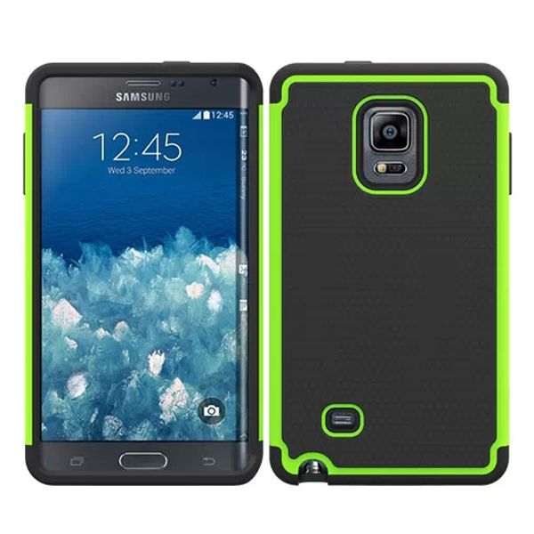 Football Texture Hybrid Rugged Protective Case for Samsung Galaxy Note Edge (Green)
