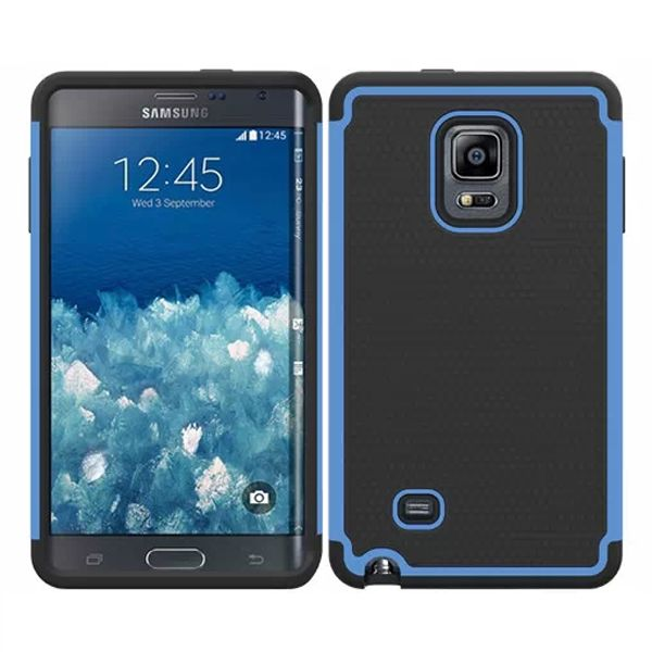 Football Texture Hybrid Rugged Protective Case for Samsung Galaxy Note Edge (Light Blue)