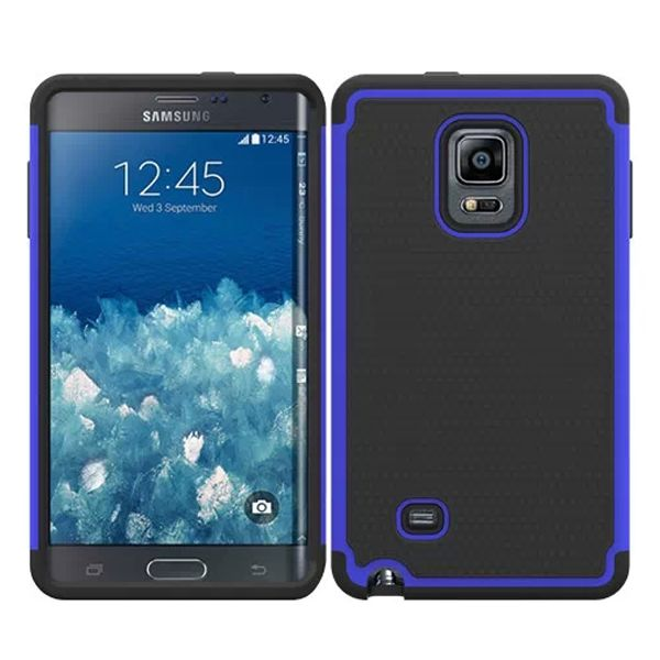Football Texture Hybrid Rugged Protective Case for Samsung Galaxy Note Edge (Dark Blue)