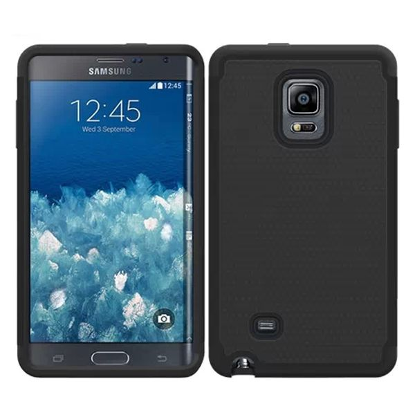 Football Texture Hybrid Rugged Protective Case for Samsung Galaxy Note Edge (Black)