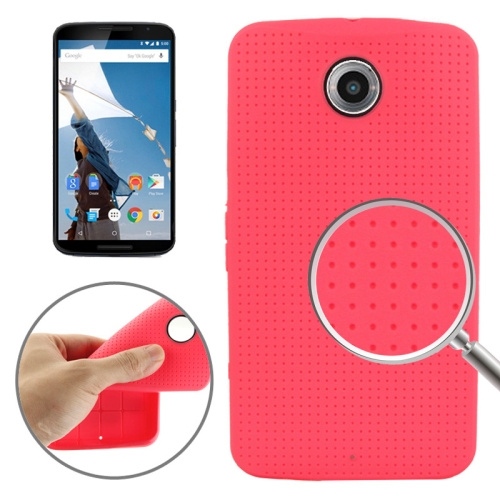 Mesh Pattern Soft TPU Case for Google Nexus 6 (Red)