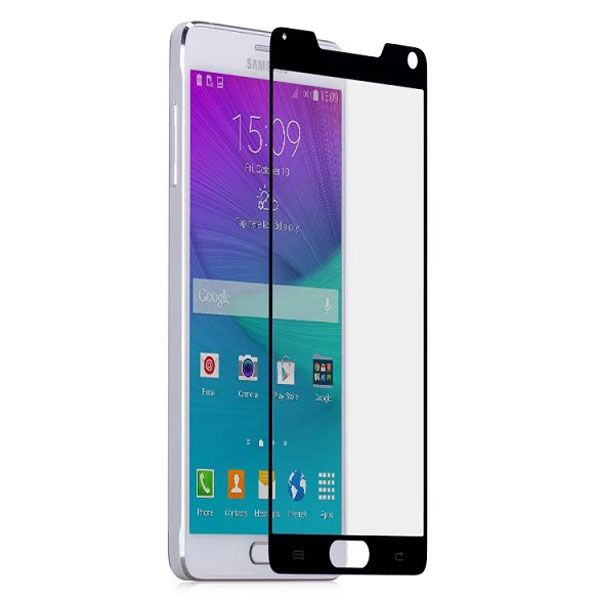 Momax 0.3mm Full Screen Tempered Glass Screen Protector for Samsung Galaxy Note 4 (Black)