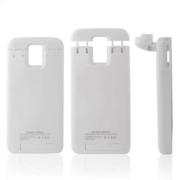 4800mAh Power Bank Charging Backup External Battery Case for Samsung Galaxy S5 (White)