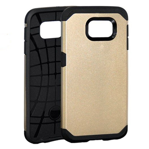 Slim Armor Soft TPU and Hard Protective Hybrid Case for Samsung Galaxy S6/ G920 (Gold)