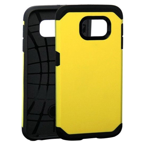 Slim Armor Soft TPU and Hard Protective Hybrid Case for Samsung Galaxy S6/ G920 (Yellow)