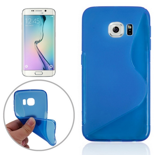 S Line Frosted TPU Protective Case Cover for Samsung Galaxy S6 Edge/ G925 (Blue)