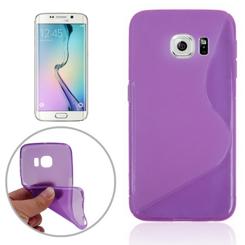 S Line Frosted TPU Protective Case Cover for Samsung Galaxy S6 Edge/ G925 (Purple)