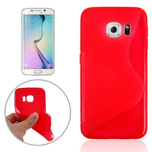 S Line Frosted TPU Protective Case Cover for Samsung Galaxy S6 Edge/ G925 (Red)