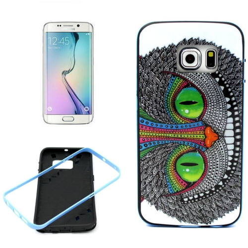 Bumper Frame Soft Protective TPU Case Cover for Samsung Galaxy S6 Edge (Cat Pattern)