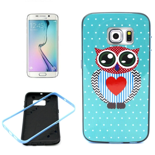 Bumper Frame Soft Protective TPU Case Cover for Samsung Galaxy S6 Edge (Lovely Owl Pattern)
