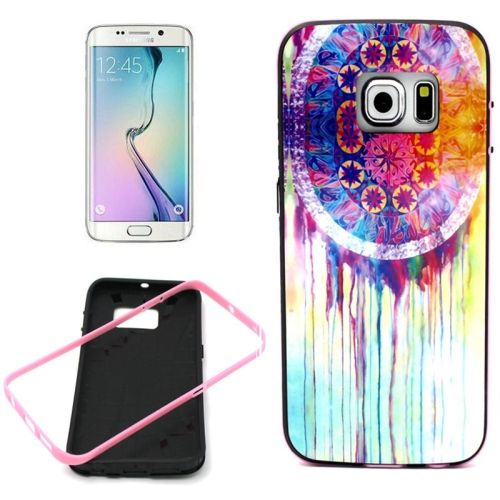 Bumper Frame Soft Protective TPU Case Cover for Samsung Galaxy S6 Edge (Colorful Pattern)