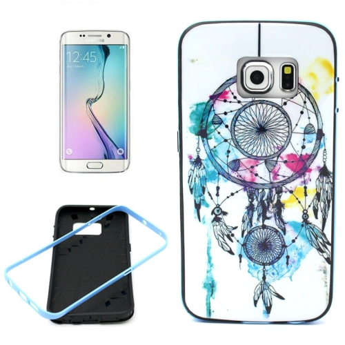 Bumper Frame Soft Protective TPU Case Cover for Samsung Galaxy S6 Edge (Wind Chimes Pattern)
