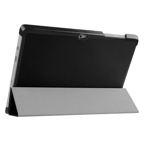Top Selling 3 Folding Flip Stand Leather Tablet Case for Microsoft Surface 3 (Black)