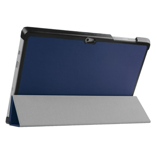 Top Selling 3 Folding Flip Stand Leather Tablet Case for Microsoft Surface 3 (Dark Blue)