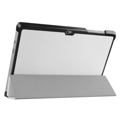 Top Selling 3 Folding Flip Stand Leather Tablet Case for Microsoft Surface 3 (White)