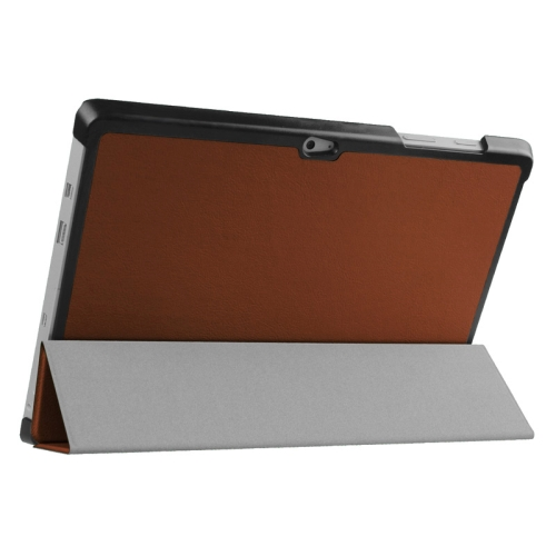 Top Selling 3 Folding Flip Stand Leather Tablet Case for Microsoft Surface 3 (Brown)