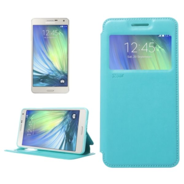 Crazy Horse Texture Flip Stand PU Leather Wallet Case for Samsung Galaxy A7 (Baby Blue)