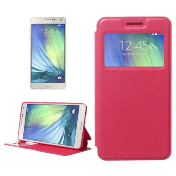 Crazy Horse Texture Flip Stand PU Leather Wallet Case for Samsung Galaxy A7 (Red)