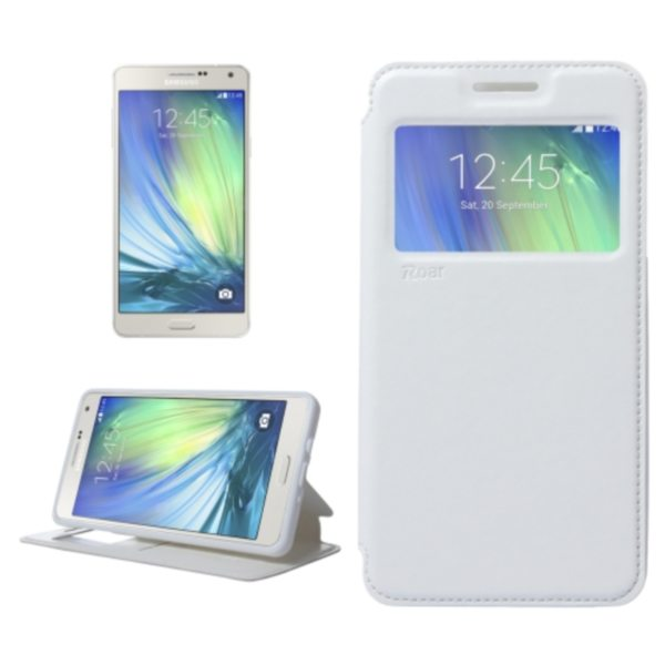 Crazy Horse Texture Flip Stand PU Leather Wallet Case for Samsung Galaxy A7 (White)