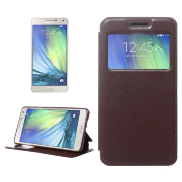 Crazy Horse Texture Flip Stand PU Leather Wallet Case for Samsung Galaxy A7 (Brown)