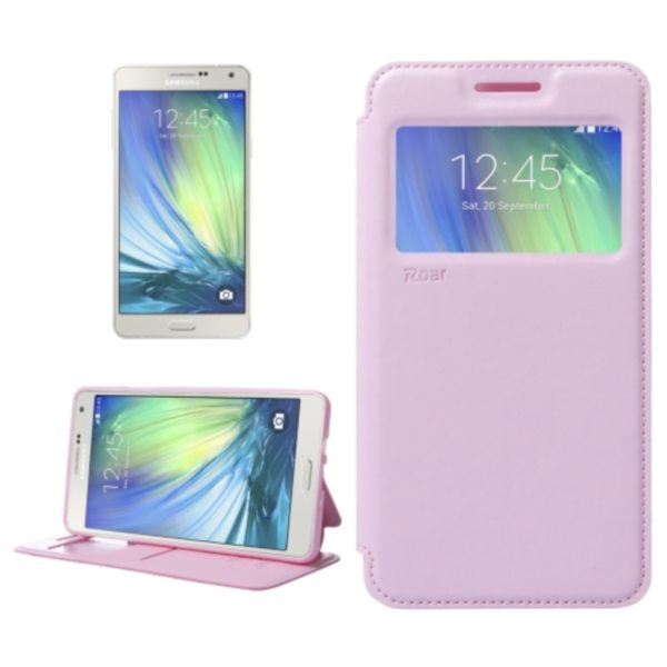 Crazy Horse Texture Flip Stand PU Leather Wallet Case for Samsung Galaxy A7 (Pink)