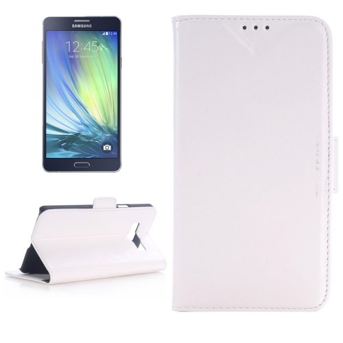 Oil Skin Texture Leather Case for Samsung Galaxy A7 with Holder & Card Slots (White)