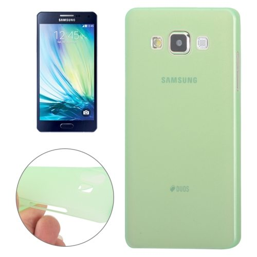0.3mm Ultra-thin Anti-skid Polycarbonate PC Case for Samsung Galaxy A7 (Green)