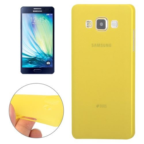 0.3mm Ultra-thin Anti-skid Polycarbonate PC Case for Samsung Galaxy A7 (Yellow)