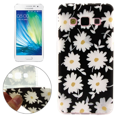 Cheap Wholesale Price Various Designs Protective TPU Case for Samsung Galaxy A7 (White Flowers Pattern)