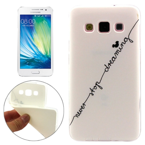 Cheap Wholesale Price Various Designs Protective TPU Case for Samsung Galaxy A7 (Words Pattern)
