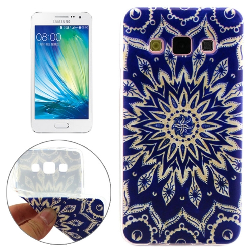 Cheap Wholesale Price Various Designs Protective TPU Case for Samsung Galaxy A7 (Abstract Flower Bud Pattern)