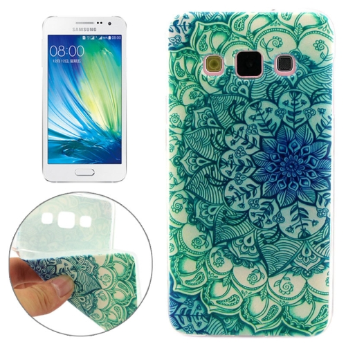 Cheap Wholesale Price Various Designs Protective TPU Case for Samsung Galaxy A7 (Green Flowers Pattern)