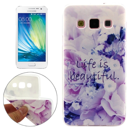 Cheap Wholesale Price Various Designs Protective TPU Case for Samsung Galaxy A7 (Beautiful Flower Pattern)