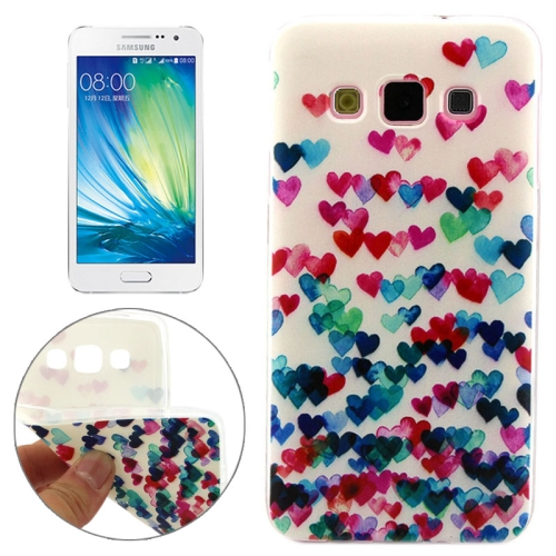 Cheap Wholesale Price Various Designs Protective TPU Case for Samsung Galaxy A7 (Colorful Love Pattern)