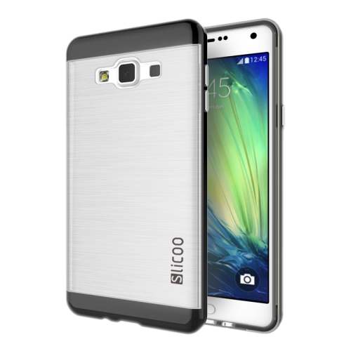Electroplating Style Brushed Texture TPU and PC Hybrid Protective Cover for Samsung Galaxy A7 (Black)