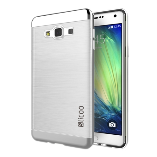 Electroplating Style Brushed Texture TPU and PC Hybrid Protective Cover for Samsung Galaxy A7 (Silver)