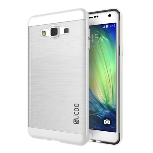Electroplating Style Brushed Texture TPU and PC Hybrid Protective Cover for Samsung Galaxy A7 (White)