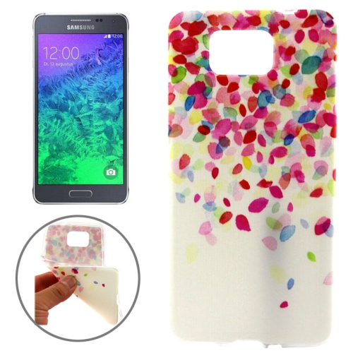 Ultrathin Colorful TPU Protective Case for Samsung Galaxy Alpha (Leaves Pattern)