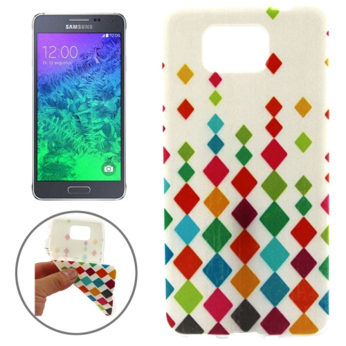 Ultrathin Colorful TPU Protective Case for Samsung Galaxy Alpha (Diamonds Pattern)