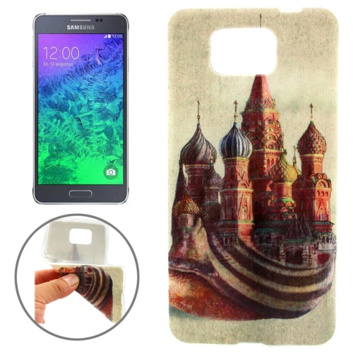 Ultrathin Colorful TPU Protective Case for Samsung Galaxy Alpha (Classical Buildings Pattern)